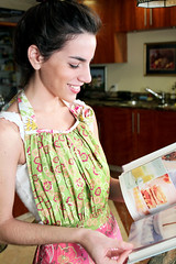 Spice It Up Apron (Art Gallery Fabrics) Tags: pink blue color green cooking floral fashion yellow modern vintage children dress purple gardening robe vibrant traditional blues retro apron dresses collections greens chic elegant yellows aprons pinks robes purples tunic sleepwear tunics artgalleryfabrics patriciabravo patbravo