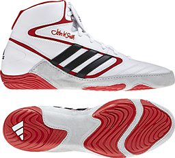 adidas Mat Wizard IV White Red wrestling shoes
