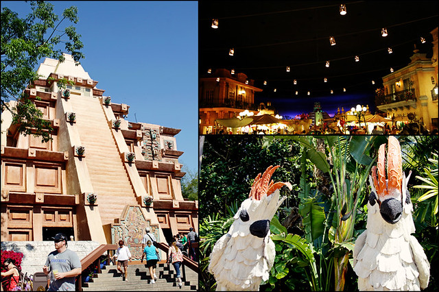 Epcot World Showcase Mexico triptych