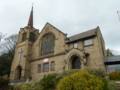 Central Methodist Church Parsonage Lane Brighouse  Yorkshire (woodytyke) Tags: uk england west tower english history church window stone architecture modern photography hall photo community worship arch britain room yorkshire united religion central kingdom spire riding photograph lane porch british wesley extension methodist non methodism congregation isles services minister preaching parsonage brighouse kirklees woodytyke 2011oakwellbrig26march