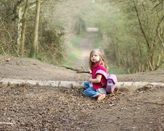 My little explorer!!! (Sarah Blizzard) Tags: park wood family trees people plants tree green grass landscape outdoors march landscapes spring sticks woods flickr child shot natural walk melody oxford simple wildflower oxfordshire feilds shotover 2011