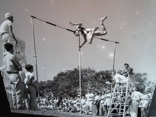 old school pole vault