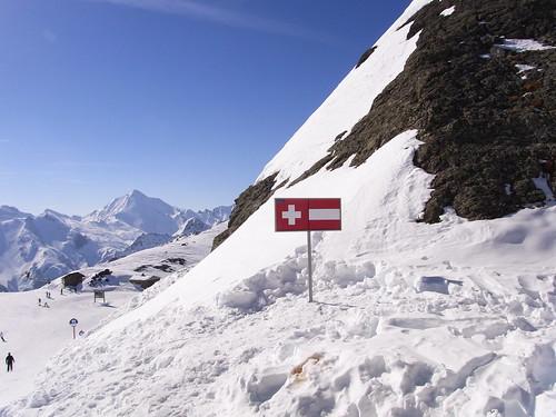 Swiss/Austrian border, Silvretta Ski Area
