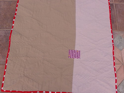 Back of Tufted Tweets quilt