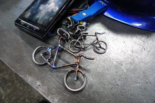The Titanium Bike Ornaments.