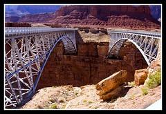 Navajo Bridges (Trudy -) Tags: bridge arizona az canyon marble navajo redrock twinbridge