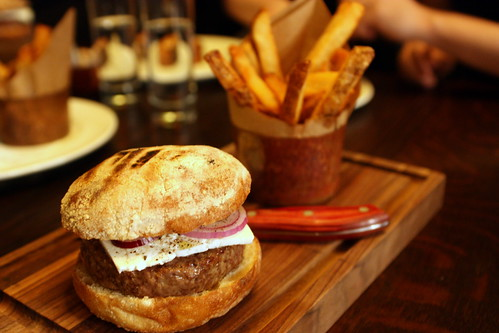 Chargrilled Lamb Burger w/Cumin Mayo and Thrice Cooked Chips