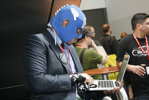 Superhero Hard at Work