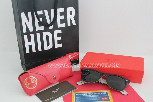 ray ban text black