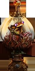 frog jar - fire