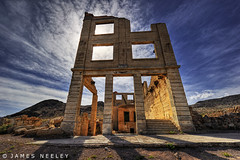 The Last Stand (James Neeley) Tags: building nevada ghosttown rhyolite hdr photomatix 5xp jamesneeley