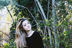 Me. (VioletHill-) Tags: trees italy black cold cute green art me girl beautiful forest hair photography photo spring eyes italian italia artistic like follow photograph blonde ita ragazza italiana