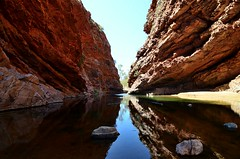 watery gorge (jehrings) Tags: mountain mountains water pool river landscape spring australia gorge redcenter watery 250v10f flickrtravelaward