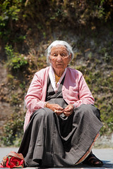 Old Sikkimese Lady (Satyaki Basu) Tags: street old portrait people india west lady canon him eos indian hilly f28 sikkim himalayan t3i 1755 600d rinchenpong kaluk