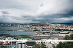 Gibraltar, UK (Naomi Rahim (thanks for 2 million hits)) Tags: gibraltar uk unitedkingdom island travel travelphotography nikond7200 landscape weather clouds wanderlust view water sea straitofgibraltar  estrechodegibraltar runway airport road spain