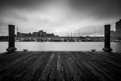 B&W Pier (R. Wozniak) Tags: milwaukee nikond750 longexposure blackwhite bw blackandwhite boats texture wood