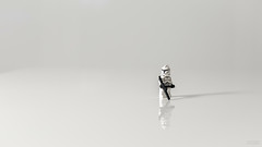 #45 - Clone Alone (Leon Barrott Photography) Tags: project50 50mm canon5dmkiii starwars clone white alone trooper toyphotography collectibles space empty flash strobist photography lego