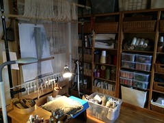 Weaving studio (D L Rigter) Tags: weavingstudidlrigter looms weaving tapestryloom archiebrennanpipeloom