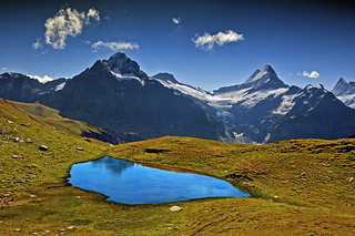 Hiking in Switzerland ; Grindelwald , Trift , above Bachsee . No. 8968.