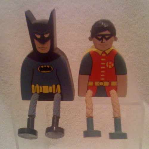 Wooden Batman and Robin