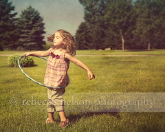 Freedom (Rebecca812) Tags: family trees shadow summer sky cute texture girl beautiful grass childhood vintage fun happy freedom dance kid day child play joy daughter hulahoop carefree oneperson warmweather 34yearsold skeletalmess familygetty2010 rebecca812 familygetty2011 heritage2011