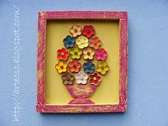 #170303 - Quadro de flor (fabriciabarcelos) Tags: artesanato sãojoãodelrei artesanatomineiro ôsô