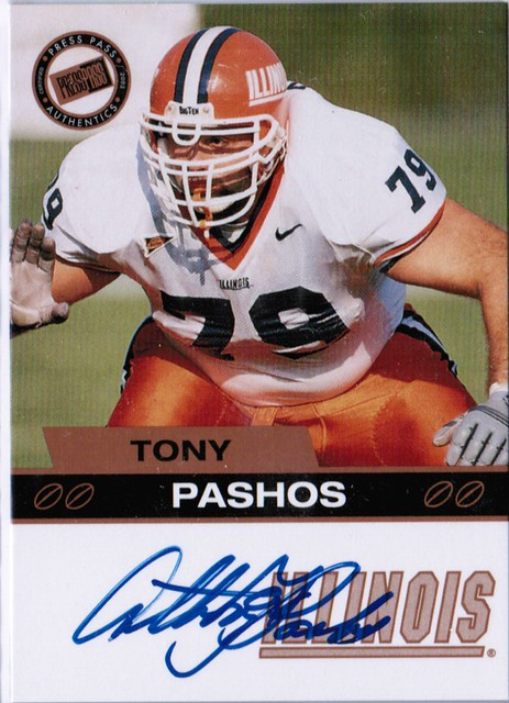 2003 Press Pass Autographs Gold Tony Pashos