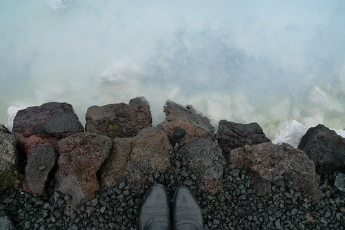 my feet and the blue lagoon
