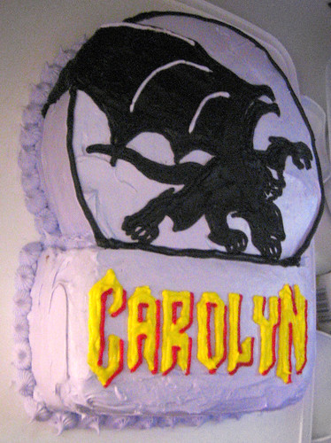 20110305 2207 - Carolyn's 35th birthday party - Gargoyles cake! - IMG_2903