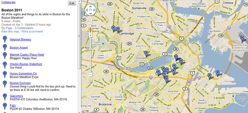 Boston 2011 - Google Maps