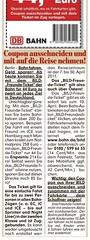 BILD (04.04.2011): Artikel zum Bahn-Gutschein