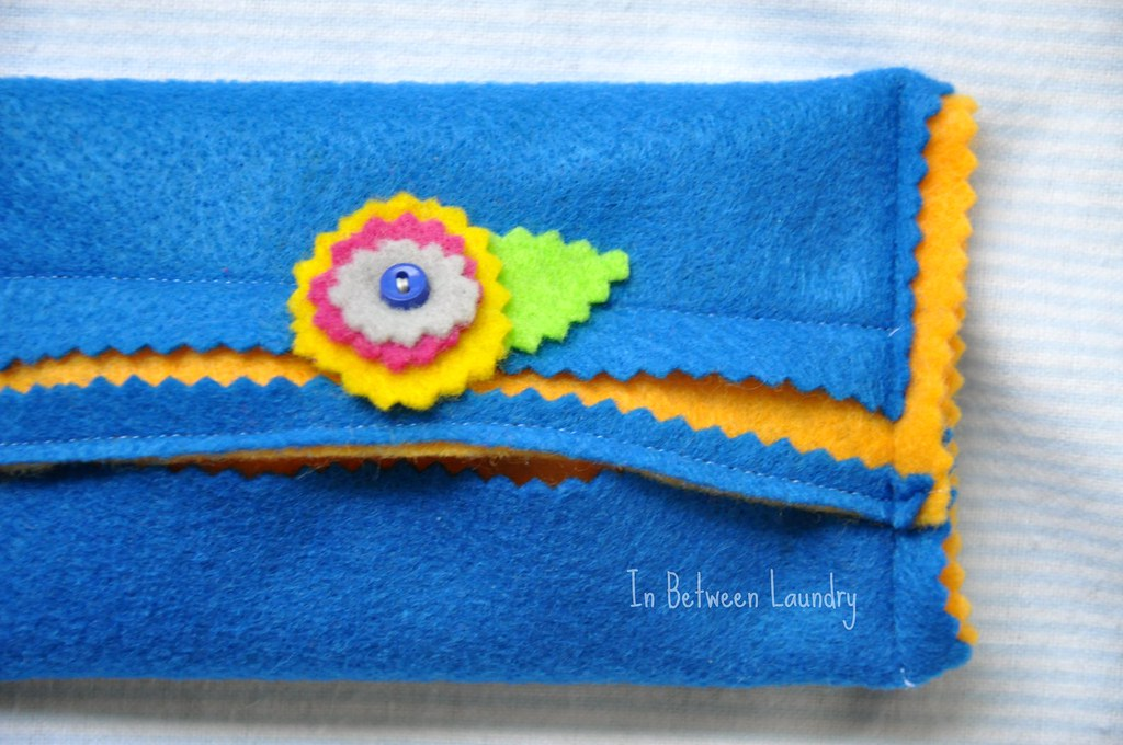 felt pocket tissue holder