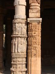 Sculptural unison: Qutub Minar, Delhi (6) (v s raam (on/off)) Tags: sculpture india art architecture temple sandstone delhi indian culture granite tradition hindu archeology qutub minar qutubminar unison mughal