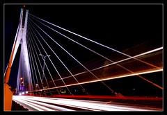 Stripes, Warsaw (bogusia.swierczek) Tags: longexposure bridge poland polska tokina1224 ponte most warsaw polonia warszawa mostświętokrzyski varsavia