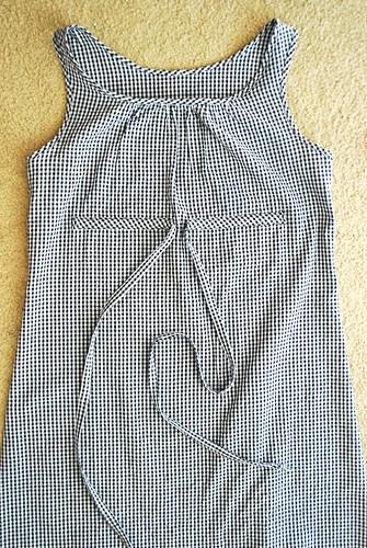 Blouse pattern into dress