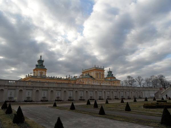 Wilanow palace from Eastern park