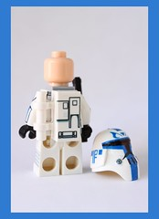 Custom Lego Clone Wars Cold Assault Captain Rex $29.99 (back view) (*Clone Command* Collectable Minifigures) Tags: trooper cold star lego ninja assault troopers clones cw customized wars custom clone rex customs