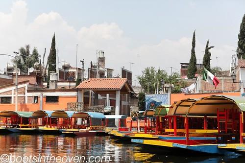 Trajineras on the canal