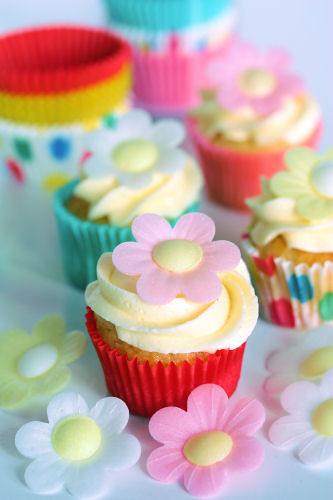 Mini flower cupcakes & cases 1704 R