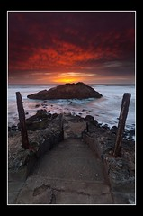 Stairway to Hell (Alan Chan Photography) Tags: sanfrancisco sunset canon sutrobaths sealrock 5dmarkii canon1635markii