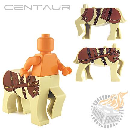 Custom minifig Centaur - Tan (Courser)