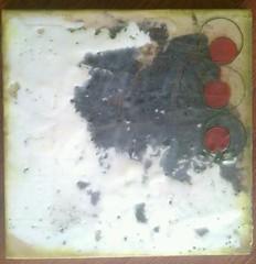 Olives - Encaustic, plaster & tar