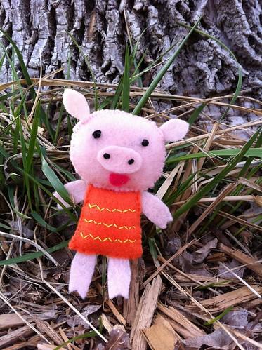 Piglet adventuring