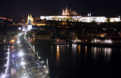 Karlv most (Charles Bridge) (radimersky) Tags: old city bridge tower castle night river lens lumix evening town europa europe cityscape republic view czech prague capital prag charles praha praga hradschin panasonic most nighttime pancake 20mm fotografia bohemia vltava hrad noc hradany widok miasto strana prager zamek karlv mal rzeka czechy gf1 stolica prask karlsbrcke miejski ladnscape kleinseite nocna nocne zdjcie hradczany praski nocny wetawa dmcgf1 weduta