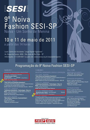 Evento no Sesi com a Janome estarei lá by Elyy Bolsas & Etc