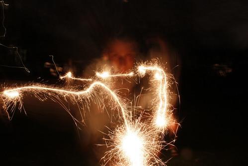 sparkler ghosting.
