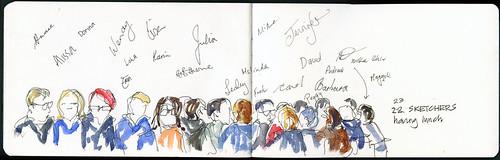 110416 Sketchcrawl 31_05 Sketchers at lunch