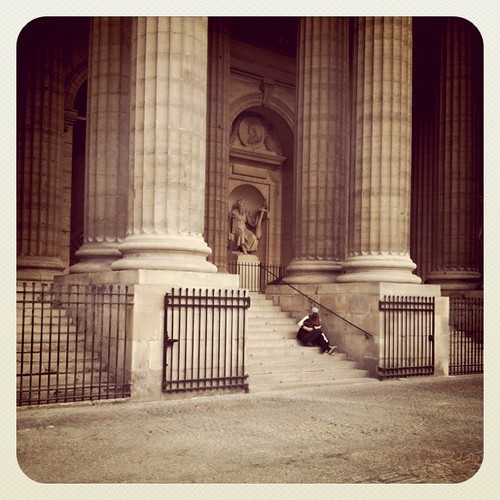 Paris, in front of St Sulpice church