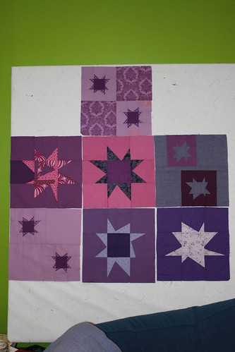 Purple Wonky Star Quilt 2