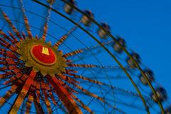 Riesen Rad vor blau